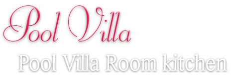 Pool Villa Room kitchen